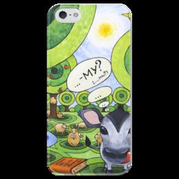 """Чехол для iPhone 5 глянцевый, с полной запечаткой """"Lollypups #26"""" - арт, поп-арт, подарок, pop-art, овечка"""