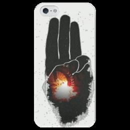 """Чехол для iPhone 5 глянцевый, с полной запечаткой """"Голодные игры"""" - фильм, голодные игры"""