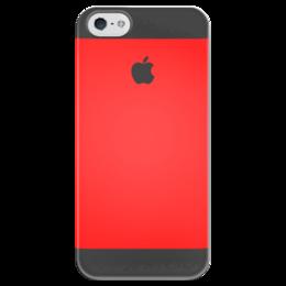 """Чехол для iPhone 5 глянцевый, с полной запечаткой """"Арбуз"""" - apple, iphone, red"""