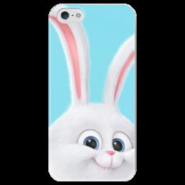 """Чехол для iPhone 5 глянцевый, с полной запечаткой """"Снежок"""" - снежок, тайная жизнь домашних животных, the secret life of pets, snowball"""