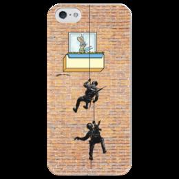 """Чехол для iPhone 5 глянцевый, с полной запечаткой """"Ну погоди"""" - арт, ну погоди"""