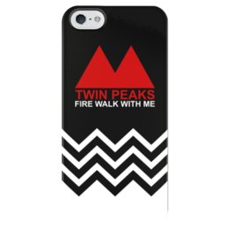 """Чехол для iPhone 5 глянцевый, с полной запечаткой """"Твин Пикс"""" - twin peaks, твин пикс, дэвид линч, огонь иди со мной, fire walk with me"""