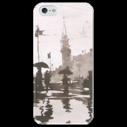 """Чехол для iPhone 5 глянцевый, с полной запечаткой """"Питер 4"""" - санкт-петербург"""