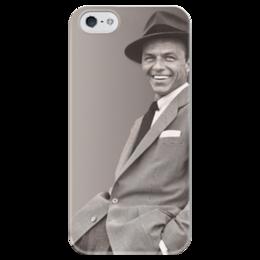 """Чехол для iPhone 5 глянцевый, с полной запечаткой """"Frank Sinatra"""" - музыка, ретро, классика, джаз, блюз, sinatra, синатра, 30ые"""