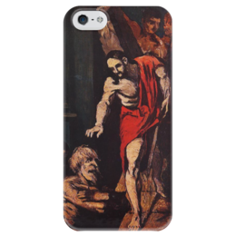 "Чехол для iPhone 5 глянцевый, с полной запечаткой ""Christ in Limbo"" - картина, сезанн"