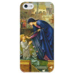 "Чехол для iPhone 5 глянцевый, с полной запечаткой ""Сказка настоятельницы (The Prioress's Tale)"" - картина, бёрн-джонс"
