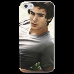 """Чехол для iPhone 5 глянцевый, с полной запечаткой """"Зак Эфрон"""" - зак эфрон, zac efron"""