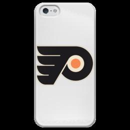 "Чехол для iPhone 5 глянцевый, с полной запечаткой ""Philadelphia Flyers"" - хоккей, hockey, спортивная, nhl, нхл, philadelphia, flyers"