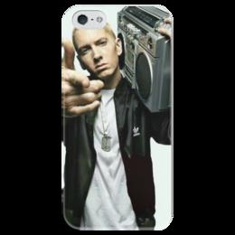 """Чехол для iPhone 5 глянцевый, с полной запечаткой """"EMINEM"""" - rap, рэпер, white rapper, marshall mathers"""