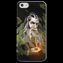 """Чехол для iPhone 5 глянцевый, с полной запечаткой """"Гендальф"""" - арт, властелин колец, магия, фродо, орки"""