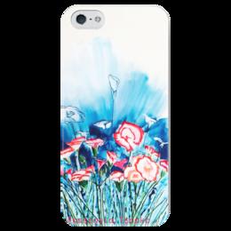 "Чехол для iPhone 5 глянцевый, с полной запечаткой ""Весна"" - цветы, spring"