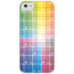 """Чехол для iPhone 5 глянцевый, с полной запечаткой """"UV Grid Iphone Case"""" - приколы, популярные, карта, оригинально, 3d, model, креативно, сетка, map, uv"""