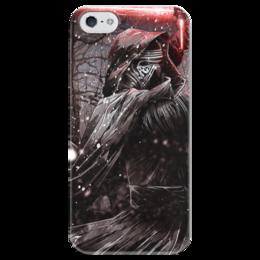 """Чехол для iPhone 5 глянцевый, с полной запечаткой """"Кайло Рен (Kylo Ren)"""" - star wars, звездные войны, дарт вейдер, стар варс, бен соло"""