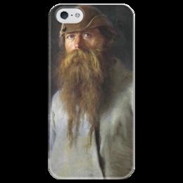 """Чехол для iPhone 5 глянцевый, с полной запечаткой """"Полесовщик (картина Крамского)"""" - картина, крамской"""
