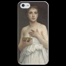 """Чехол для iPhone 5 глянцевый, с полной запечаткой """"Пандора (Pandore)"""" - картина, бугро"""