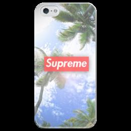 """Чехол для iPhone 5 глянцевый, с полной запечаткой """"Supreme"""" - арт, лето, summer, swag, supreme"""