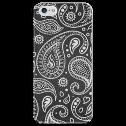 """Чехол для iPhone 5 глянцевый, с полной запечаткой """"Пейсли"""" - пейсли, индийский огурец"""