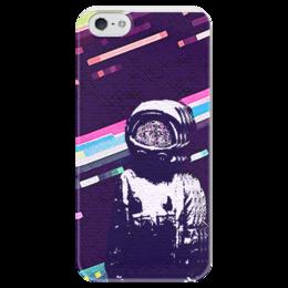 """Чехол для iPhone 5 глянцевый, с полной запечаткой """"КМТ-brand """" - space, космос, astronaut, наркомания"""