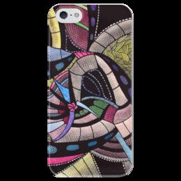 """Чехол для iPhone 5 глянцевый, с полной запечаткой """"Абстракция """" - абстракция, арт, иллюстрация, графика, акварель"""