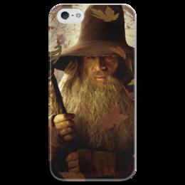 """Чехол для iPhone 5 глянцевый, с полной запечаткой """"Гэндальф"""" - кино, властелин колец, хоббит, hobbit, фродо"""