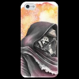 """Чехол для iPhone 5 глянцевый, с полной запечаткой """"Кайло Рен (Kylo Ren)"""" - star wars, звездные войны, дарт вейдер, kylo ren, бен соло"""