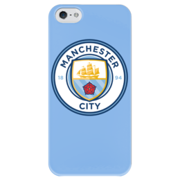 "Чехол для iPhone 5 глянцевый, с полной запечаткой ""Manchester City"" - manchester city, манчестер сити, мс, ман сити"