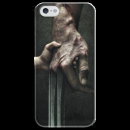 """Чехол для iPhone 5 глянцевый, с полной запечаткой """"Логан"""" - комиксы, росомаха, люди икс, marvel, марвел"""