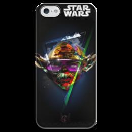 """Чехол для iPhone 5 глянцевый, с полной запечаткой """"Star Wars -  Звездные воины  - Мастер Йода"""" - star wars, звездные воины, мастер йода"""