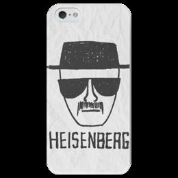 """Чехол для iPhone 5 глянцевый, с полной запечаткой """"Heisenberg """" - во все тяжкие, breaking bad, гейзенберг, heisenberg"""