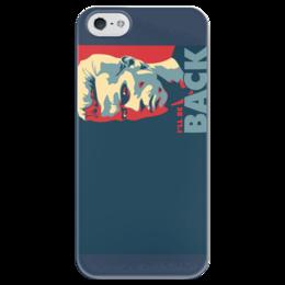 "Чехол для iPhone 5 глянцевый, с полной запечаткой ""Шварцнегер"" - кино, фантастика, боевик, шварцнегер"
