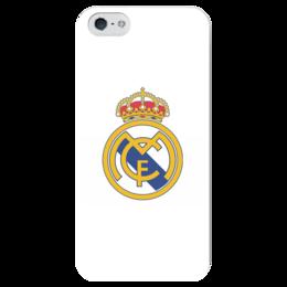 "Чехол для iPhone 5 глянцевый, с полной запечаткой ""Реал Мадрид"" - real madrid, реал мадрид"