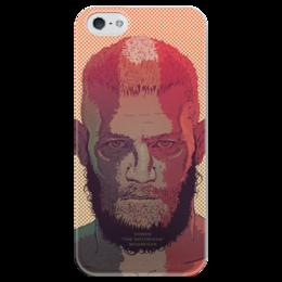 """Чехол для iPhone 5 глянцевый, с полной запечаткой """"МакГрегор"""" - ufc, макгрегор, connormcgregor"""