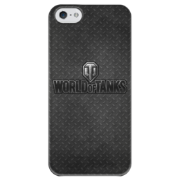 "Чехол для iPhone 5 глянцевый, с полной запечаткой ""World of Tanks"" - war, world of tanks, танки, wot, tanks"
