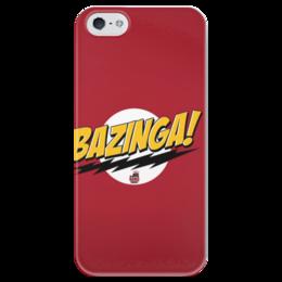 """Чехол для iPhone 5 глянцевый, с полной запечаткой """"BAZINGA!"""" - the big bang theory, bazinga, science, теория большого взрыва, comedy, ситком"""