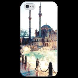 """Чехол для iPhone 5 глянцевый, с полной запечаткой """"Мечеть"""" - ислам, вода, мечеть"""