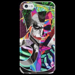 """Чехол для iPhone 5 глянцевый, с полной запечаткой """"Джокер"""" - бэтмен, комиксы, джокер, joker, batman"""