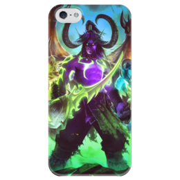"""Чехол для iPhone 5 глянцевый, с полной запечаткой """"WarCraft: Illidan"""" - wow, warcraft, варкрафт, иллидан, illidan"""