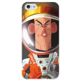 """Чехол для iPhone 5 глянцевый, с полной запечаткой """"The Martian"""" - кино, фильм, марсианин, the martian"""