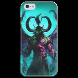 """Чехол для iPhone 5 глянцевый, с полной запечаткой """"WarCraft Collection: illidan"""" - wow, warcraft, world of warcraft, варкрафт, иллидан"""