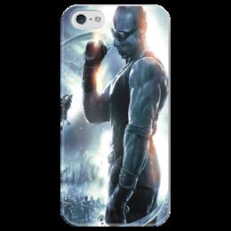 """Чехол для iPhone 5 глянцевый, с полной запечаткой """"Риддик / Riddick"""" - рисунок, кино, фэнтези, риддик"""