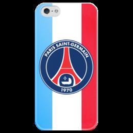 """Чехол для iPhone 5 глянцевый, с полной запечаткой """"Псж PSG"""" - псж, paris saint-germain, пари сен-жермен, psg"""