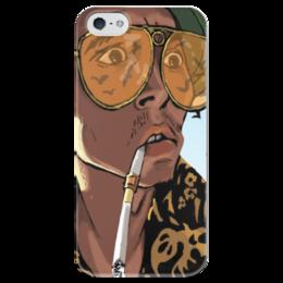 """Чехол для iPhone 5 глянцевый, с полной запечаткой """"Страх и ненависть в Лас-Вегасе"""" - джонни депп, лас-вегас, страх и ненависть, рауль, рауль дьюк"""