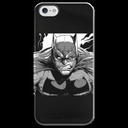 """Чехол для iPhone 5 глянцевый, с полной запечаткой """"Бэмэн"""" - комиксы, batman, бэтмэн"""