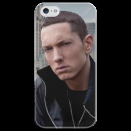 """Чехол для iPhone 5 глянцевый, с полной запечаткой """"Eminem"""" - eminem, эминем, slim shady, слим шейди"""