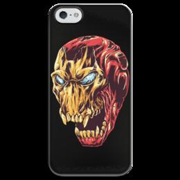 """Чехол для iPhone 5 глянцевый, с полной запечаткой """"Ironman / Железный человек"""" - комиксы, marvel, мстители, avengers, железный человек"""