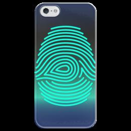 """Чехол для iPhone 5 глянцевый, с полной запечаткой """"Отпечаток пальца"""" - арт, рисунок, палец, стильный, отпечаток"""
