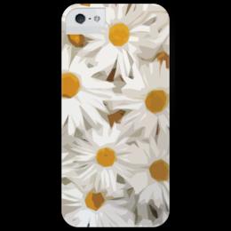 """Чехол для iPhone 5 глянцевый, с полной запечаткой """"""""Ромашки"""""""" - любовь, лето, цветы, summer, ромашки, chamomile"""