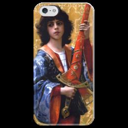 "Чехол для iPhone 5 глянцевый, с полной запечаткой ""Паж (картина Кабанеля)"" - картина, кабанель"