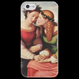"""Чехол для iPhone 5 глянцевый, с полной запечаткой """"Италия и Германия"""" - картина, овербек"""