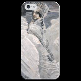 """Чехол для iPhone 5 глянцевый, с полной запечаткой """"Царевна-Лебедь (картина Врубеля)"""" - картина, сказка, врубель"""